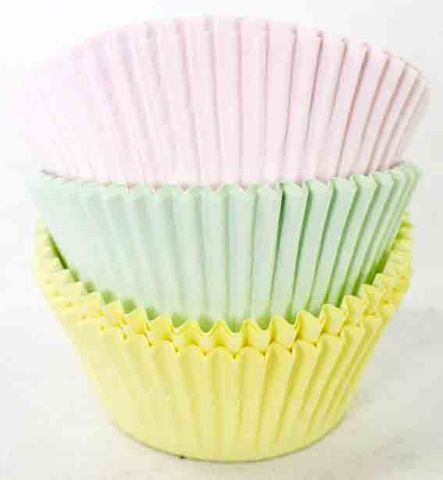 PASTEL ASSORTED BAKING CUPS TUB - 50 PIECE PACK