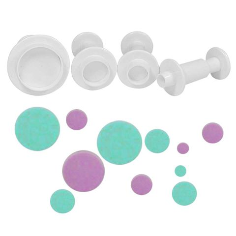 ROUND PLUNGER CUTTERS | 4 PIECES