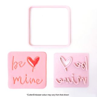 BE MINE SQUARE | CUTTER & EMBOSSER