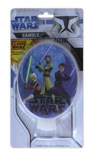 STAR WARS - CLONE WARS FLAT CANDLE