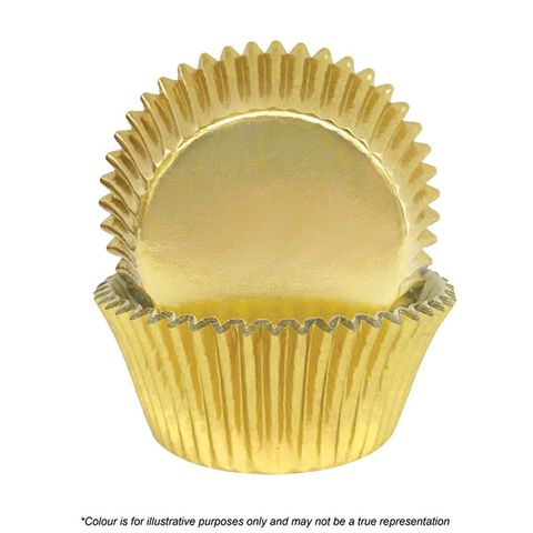 CAKE CRAFT | 700 GOLD FOIL BAKING CUPS | PACK OF 72