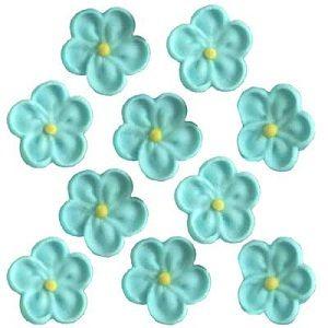SMALL 5 PETAL SUGAR FLOWERS (200) BLUE