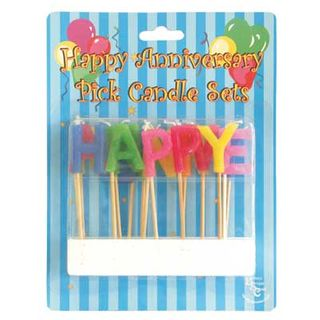 HAPPY ANNIVERSARY PICK CANDLES (6)