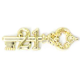 3 INCH FLAT ANTIQUE KEY 21 GOLD (1)