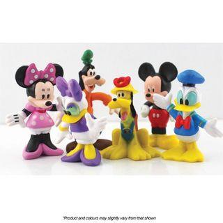 MICKEY & FRIENDS | PLASTIC FIGURINES | 6 PIECE SET