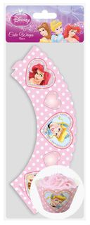 DISNEY PRINCESS - CUPCAKE WRAPS  (12 PC)