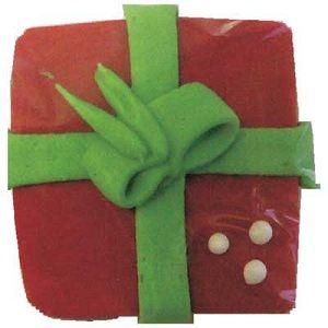 SUGAR CHRISTMAS PRESENT - LARGE (30) - SUGAR DECORATIONS