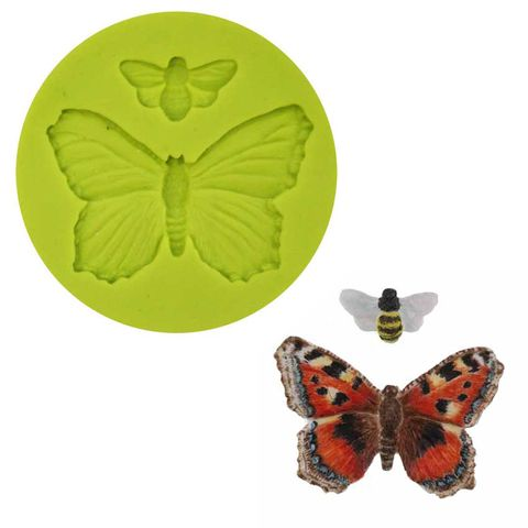 SILICONE MOULD -  BUTTERFLY - SET OF 2