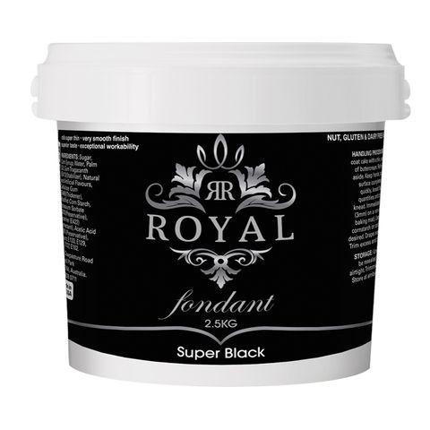ROYAL   SUPER BLACK   FONDANT   2.5KG (BB JAN 2022)