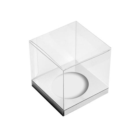 DISPLAY CUPCAKE BOX | 1 HOLE | CLEAR | PLASTIC