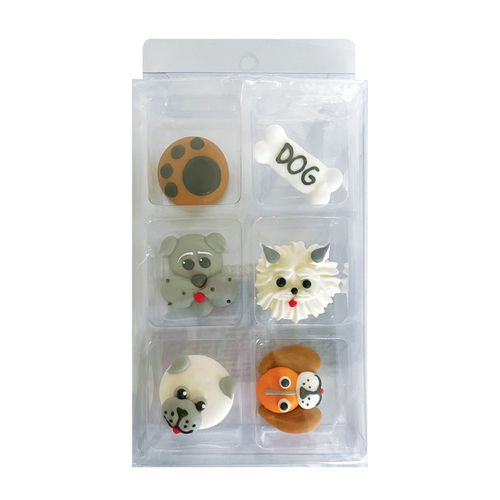 DOGS | SUGAR DECORATIONS | 6 PIECE PACK