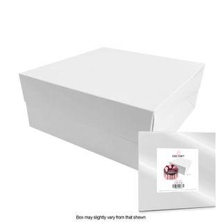CAKE CRAFT   14X14X6 INCH CAKE BOX   RETAIL PACK