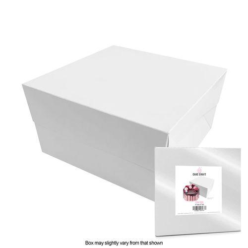 CAKE CRAFT | 10X10X6 INCH CAKE BOX | RETAIL PACK