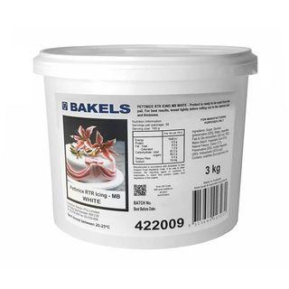 BAKELS - PLASTIC ICING - 3 KG WHITE