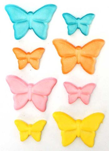 BUTTERFLY ASSORTED (180) - SUGAR DECORATIONS