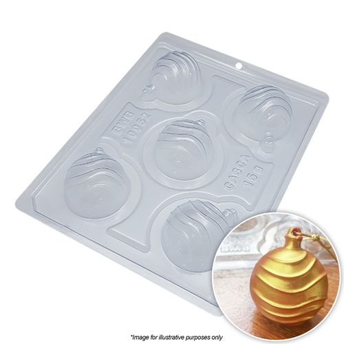 BWB | CHRISTMAS BAUBLE WAVES MOULD | 3 PIECE
