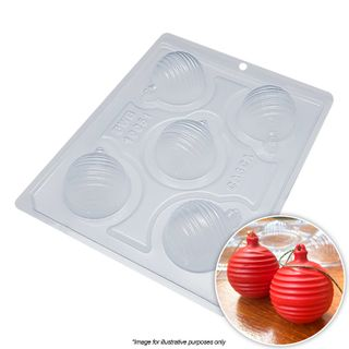 BWB   CHRISTMAS BAUBLE STRIPED MOULD   3 PIECE
