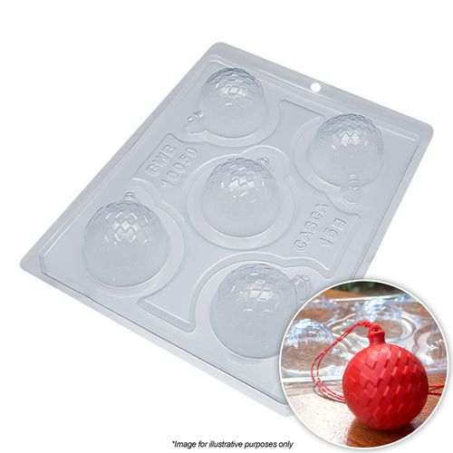 BWB | CHRISTMAS BAUBLE QUILTED MOULD | 3 PIECE