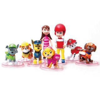 PAW PATROL PLASTIC FIGURINES (8 PIECE SET)