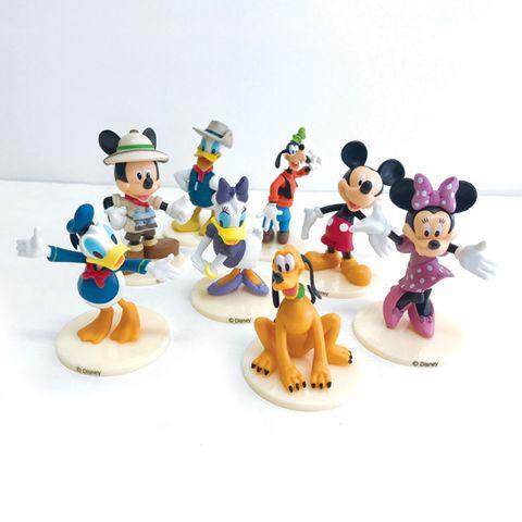 MICKEY MOUSE PLASTIC FIGURINES (8 PIECE SET)