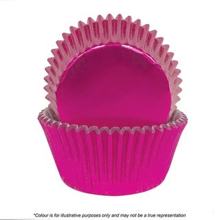CAKE CRAFT | 390 PINK FOIL BAKING CUPS | PACK OF 72