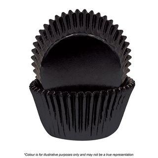 CAKE CRAFT | 390 BLACK FOIL BAKING CUPS | PACK OF 72