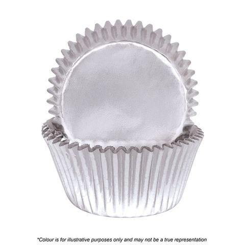 CAKE CRAFT   390 SILVER FOIL BAKING CUPS   PACK OF 72