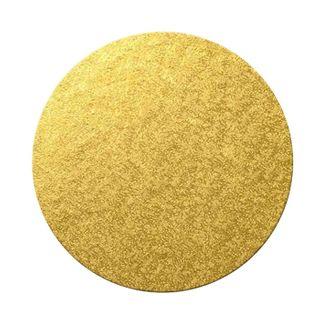 20 INCH-50CM ROUND MDF GOLD 4-6MM CAKE BOARD