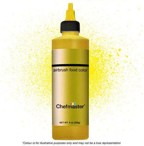 CHEFMASTER | METALLIC GOLD | AIRBRUSH FOOD COLOUR | 9 OZ/255 GRAMS
