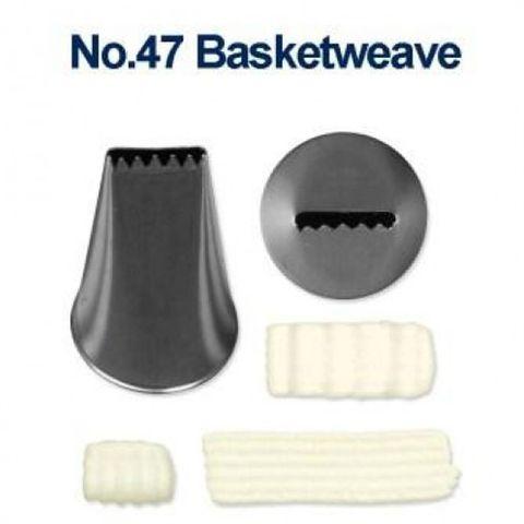 LOYAL | #47 BASKETWEAVE | PIPING TUBE | STAINLESS STEEL