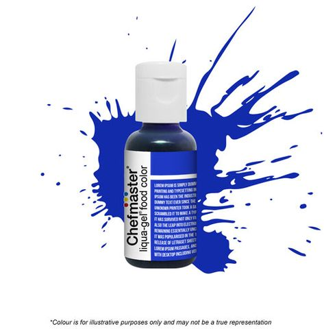 CHEFMASTER | ROYAL BLUE | LIQUA-GEL FOOD COLOUR | 0.70 OZ/20 GRAMS