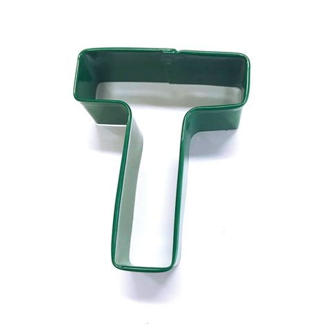 LETTER T | COOKIE CUTTER | GREEN