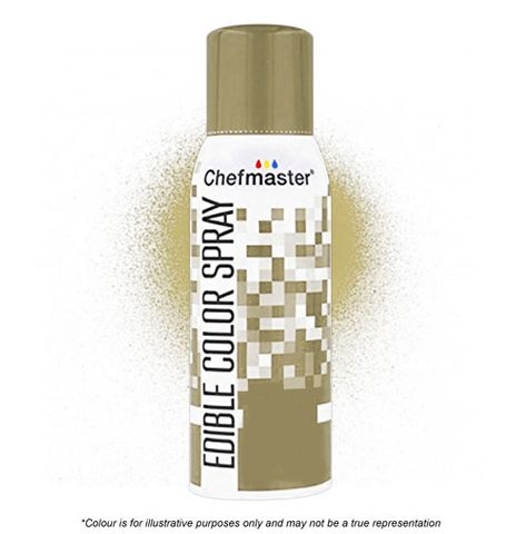 CHEFMASTER | GOLD | EDIBLE COLOUR SPRAY | 1.5 OZ/42 GRAMS