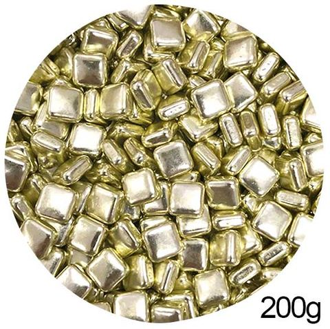 SQUARE SHAPE SPRINKLES | GOLD | 200G