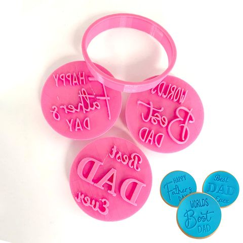FATHERS DAY | COOKIE CUTTER & EMBOSSER | SET OF 3