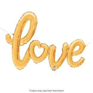 BALLOON | FOIL SHAPE SCRIPT | LOVE | GOLD | 47 INCH