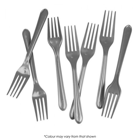 FORK | METALLIC SILVER | 20 PACK