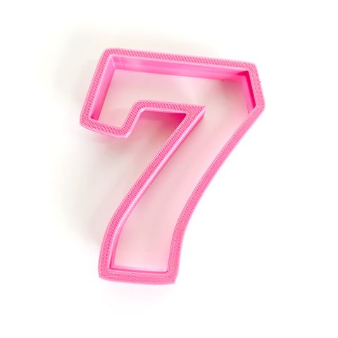 NUMBER 7   COOKIE CUTTER   LARGE