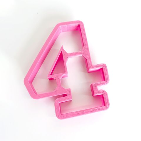 NUMBER 4 | COOKIE CUTTER | LARGE
