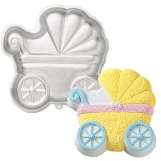 BABY PRAM CAKE MOULD