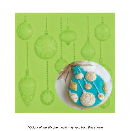CHRISTMAS BAUBLES SILICONE MOULD
