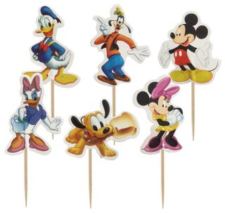 MICKEY MOUSE & FRIENDS CUPCAKE PICKS - 24 ASSORTED
