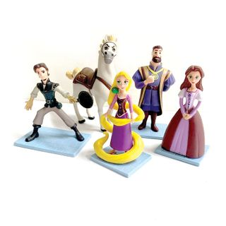 TANGLED/RAPUNZEL | PLASTIC FIGURINES | 5 PIECE SET