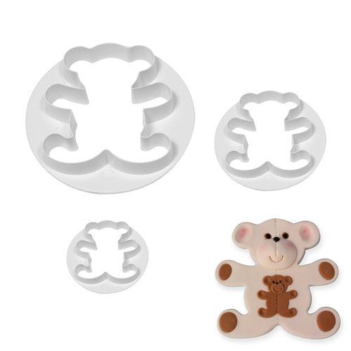 TEDDY BEAR CUTTER | 3 PIECE SET