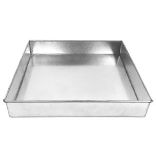 10 INCH - 25CM SQUARE LAYER CAKE PAN - 1.5 INCH 3.5CM TALL