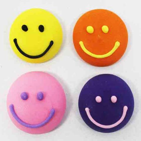SMILEY FACES (128) - SUGAR DECORATIONS