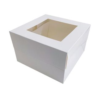 10X10X10 INCH CAKE BOX | TOP WINDOW | PE COATED MILK CARTON