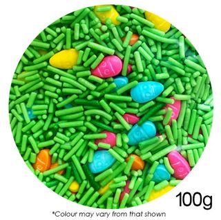 CAKE CRAFT | EASTER EGG SPRINKLES | 10MM | 100G