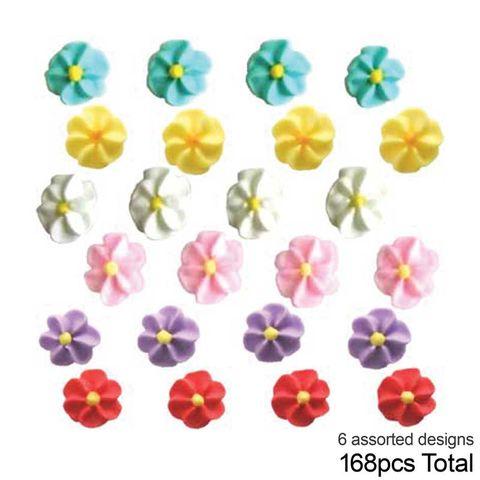 APPLE BLOSSOM SUGAR FLOWERS (168) ASSORTED