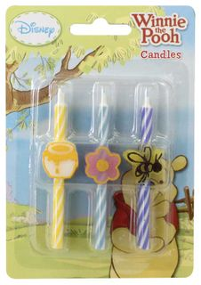 WINNIE THE POOH - ICON CANDLES - SET OF 6